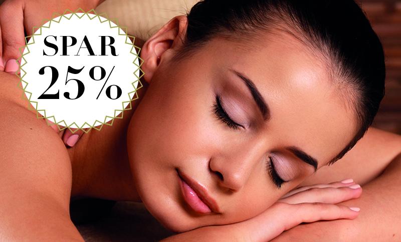 Sommerrabat på massage / Spar 25%