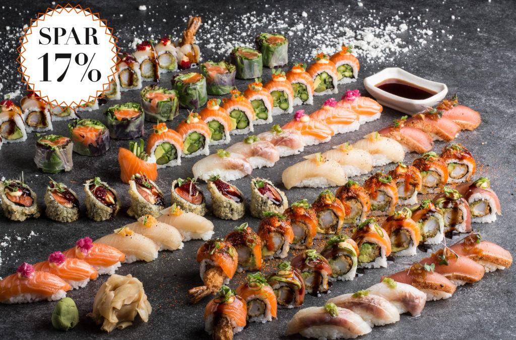 Sushi med mæthedsgaranti / Spar 17%