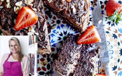 Camilla Lawes – Chokoladekage med lys chokocreme og jordbær