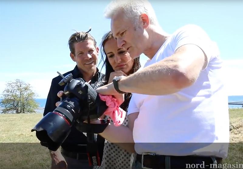 Se film – Jesper Nielsen og Karina Svarrer til photoshoot på Charlottenlund Fort