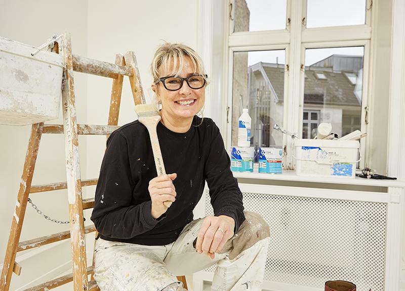 Malermester Pia Rasmussen i Ordrup