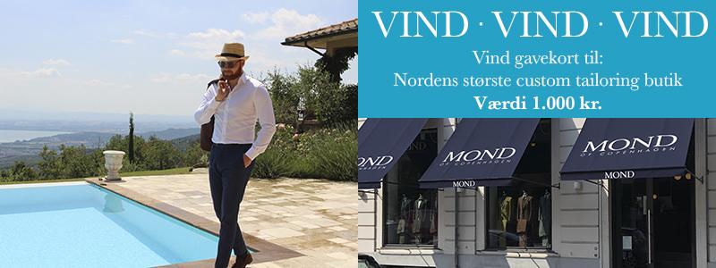 Vind gavekort til Nordens største custom tailoring butik – Værdi 1.000 kr.