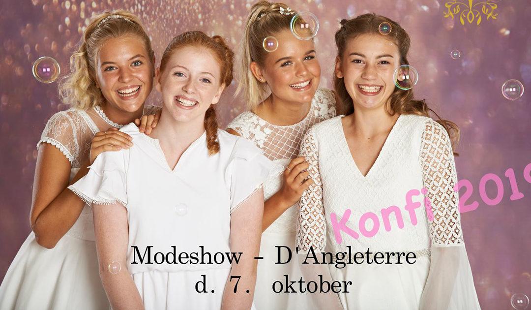 Se Sandbergs konfirmationskjoler til modeshow på Hotel D'angleterre