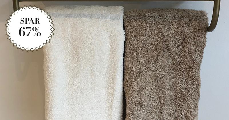 Spar 67% / Ægte egyptisk bomuldhåndklæder