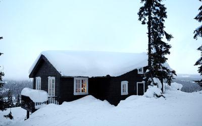 Romantisk idyl i sneen