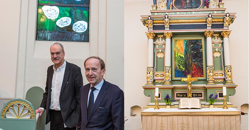 Rundt i kommunen med borgmesteren Per Kirkebys strålende glasmalerier