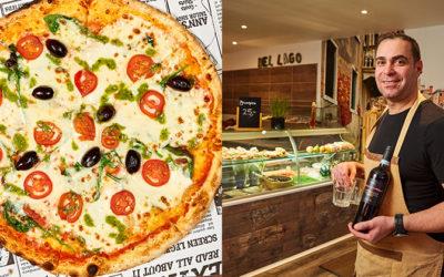 Autentisk italiensk stenovns pizza hos Del Lago Pizza