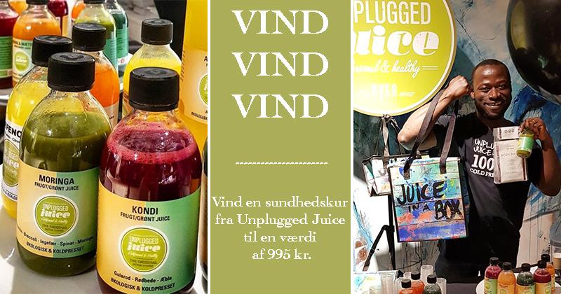Vind en sundhedskur fra Unplugged Juice til en værdi af 995 kr.
