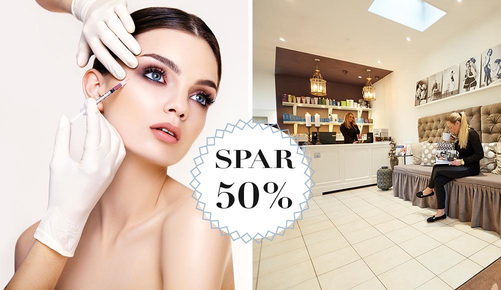 Spar 50% / Gratis Botox
