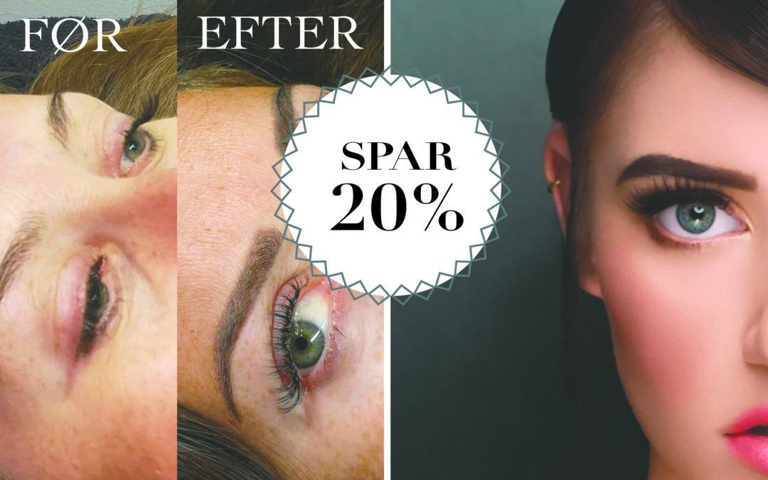 SPAR 20% / Nye læber og bryn – semipermanent makeup