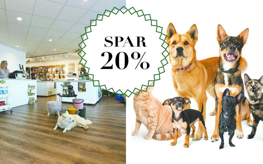 SPAR 20% på alt i butikken