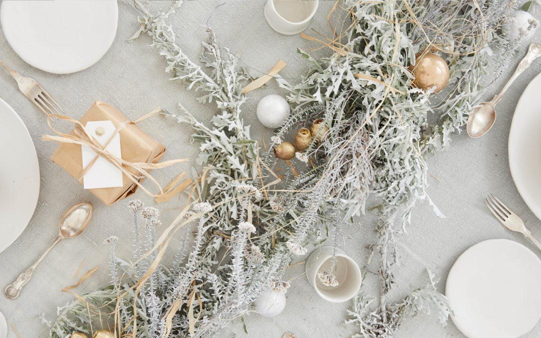 Sanselig jul med natur og metalliske pasteller