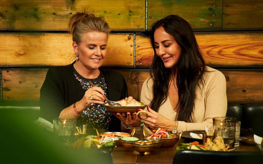 Mardahl på frokosttur med Charlotte Bonnén